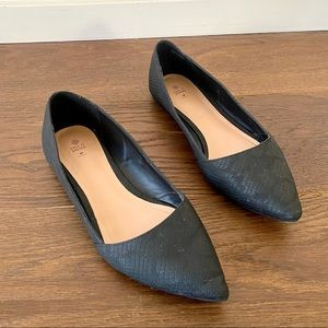 Call It Spring Pointed Toe Snake Print Flats